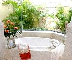 Квіти як рослинна доповнення до інтер'єру вашої ванної кімнати