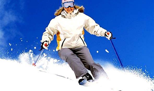 Як спускатися на лижах?