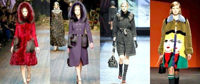 Модні зимові пальта з хутром