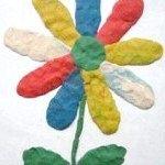 найпростіший квітка з пластиліну