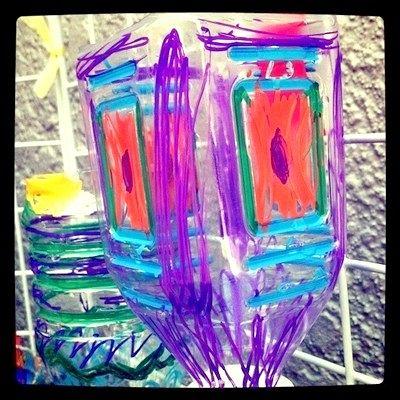 Падалка для дачі з пластикових пляшок