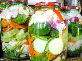 Приготування овочевого маринаду