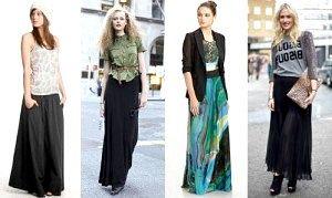 З чим носити довгу спідницю?