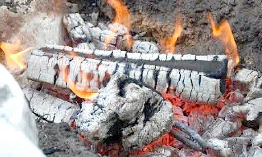палаючі дрова