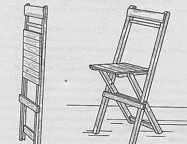 Як зробити складаний стілець своїми руками