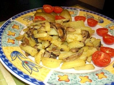 Як смажити шампіньйони з картоплею