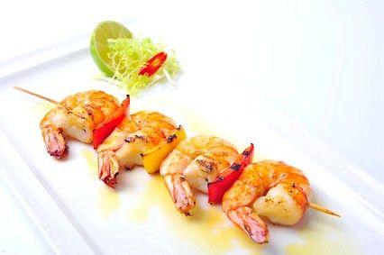 Шашлик з креветок - гарячі страви з креветок, рецепт