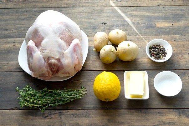 Зустрінь новий рік зі смаком: запечена курка з чебрецем і лимоном.